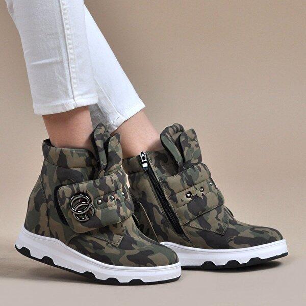 Vizon Ayakkabı Kadın  Yeşil Bot VZN19-079K