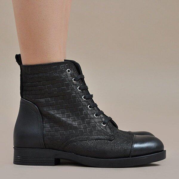 Vizon Ayakkabı Kadın  Siyah-Kroko Bot VZN19-139K