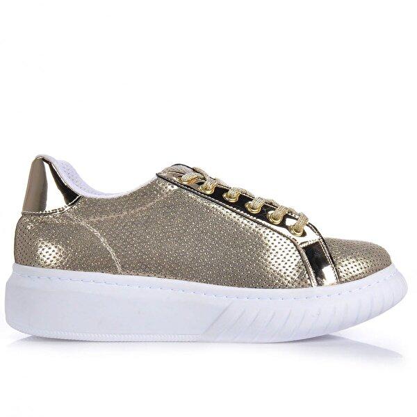 Vizon Ayakkabı Kadın  Altın Spor Ayakkabı VZN-240Y
