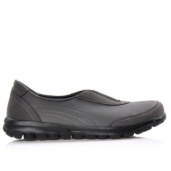 Vizon Ayakkabı Kadın  Gri Günlük Ayakkabı VZN-340Y