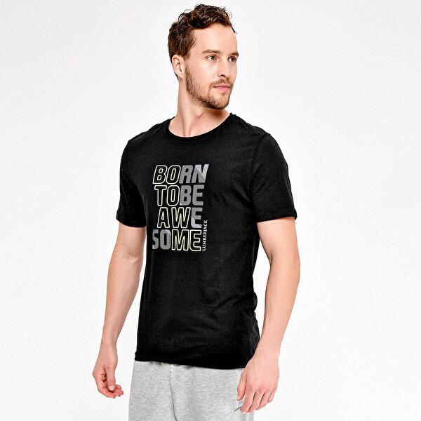 Lumberjack M-18012 PATTİ KK TSHIRT Siyah Erkek T-Shirt