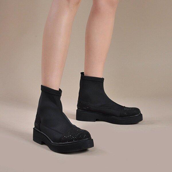 Vizon Ayakkabı Kadın  Siyah Bot VZN19-001K
