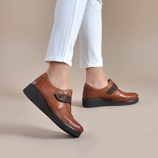 Vizon Ayakkabı Kadın  Taba Günlük Ayakkabı VZN19-012K