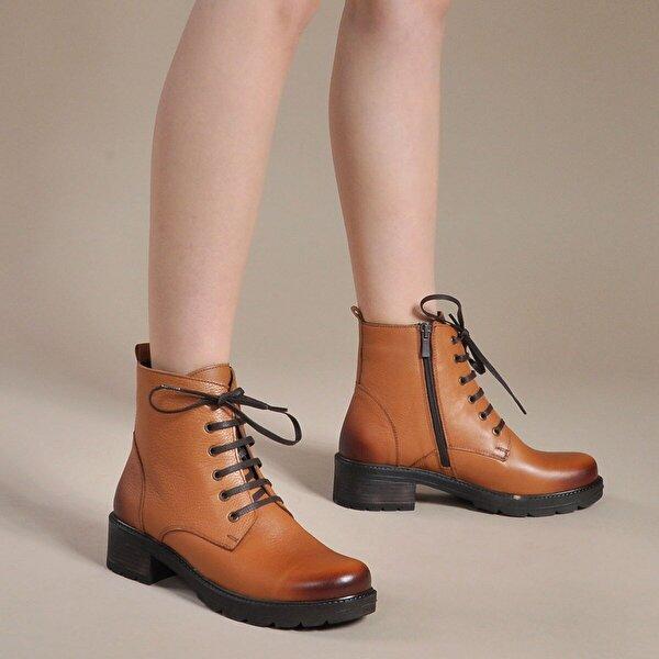 Vizon Ayakkabı Kadın  Taba Bot VZN19-016K