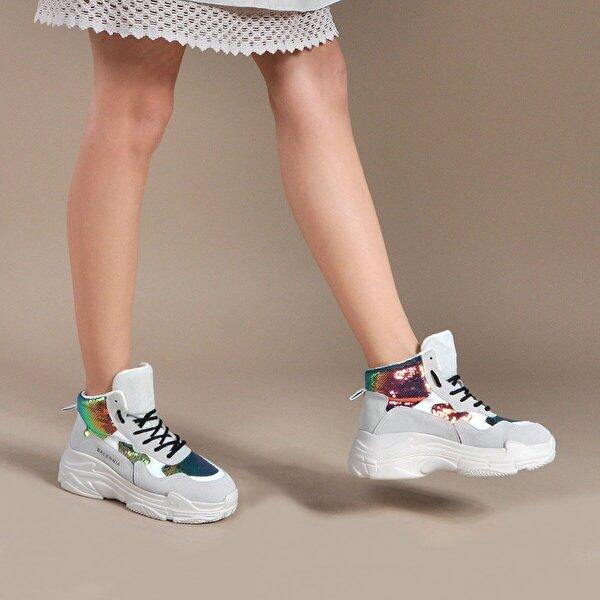 Vizon Ayakkabı Kadın  Bej Spor  Sneaker Ayakkabı VZN19-038K