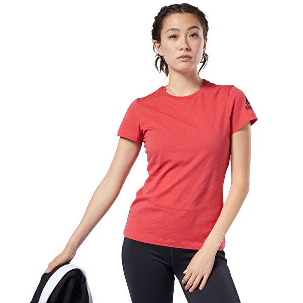 Reebok WOR COMM TEE Kırmızı Kadın T-Shirt