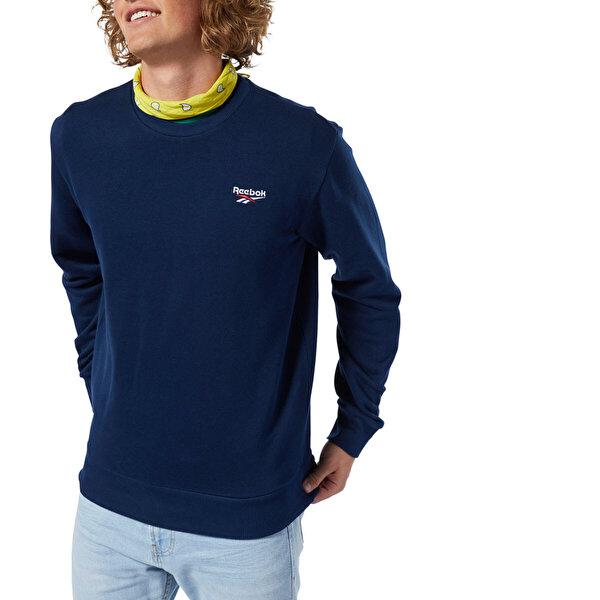 Reebok SMALL VECTOR CREW Lacivert Kadın Sweatshirt