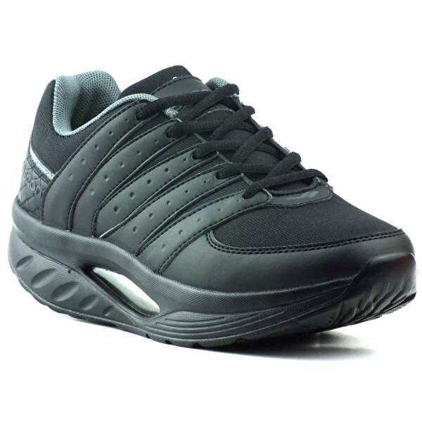 LESCON L-5612 Airmax Yürüyüş Akıllı Taban Spor Ayakkabı Siyah