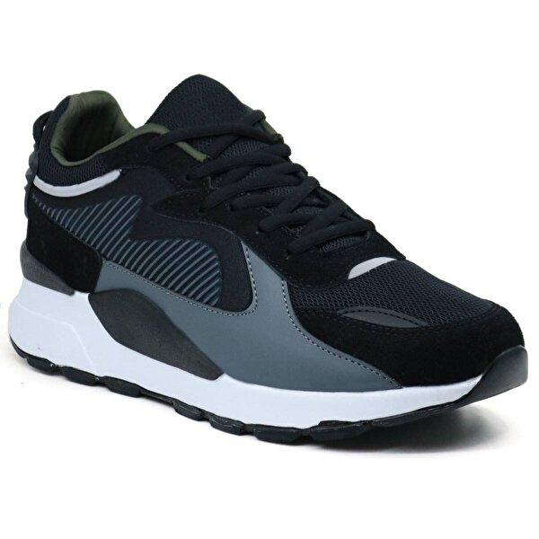 Ayakkabix Dublin Günlük Erkek Spor Ayakkabı Sİyah Füme