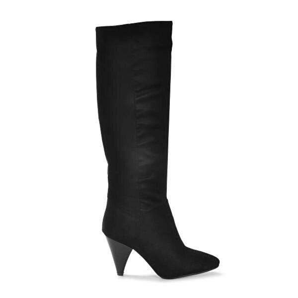 Vizon Ayakkabı Kadın  Siyah-Süet Çizme VZN19-180K