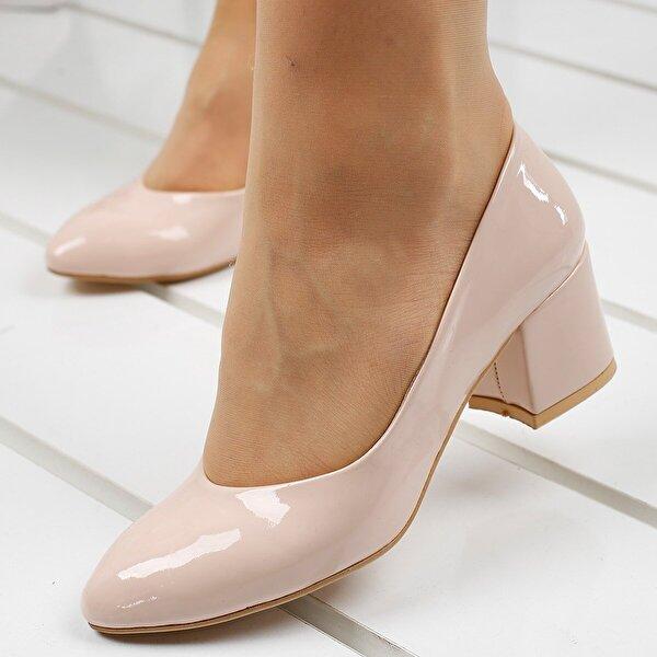 Ayakland 97544-312 5 Cm Topuklu Bayan Rugan Ayakkabı