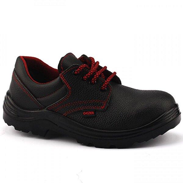 GEZER 2409 Siyah Çelik Burun Darbe İş Güvenliği Erkek Ayakkabı