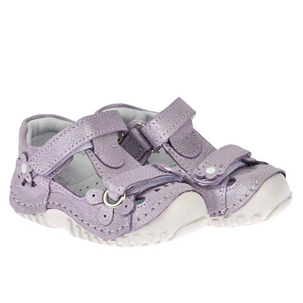 Kiko Kids Teo 106 %100 Deri Ortopedik Cırtlı Kız Çocuk  Sneaker Ayakkabı LİLA