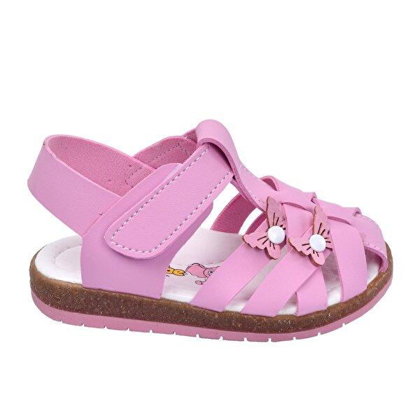 Şirin Bebe Kiko Şb 2262-71 Ortopedik Kız Çocuk Bebe Sandalet Terlik Pembe