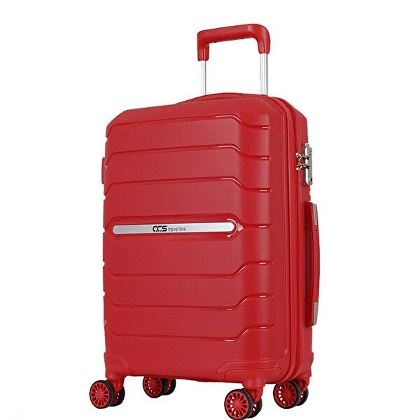 Ççs 05181 Kırmızı Kabin Boy Abs Valiz