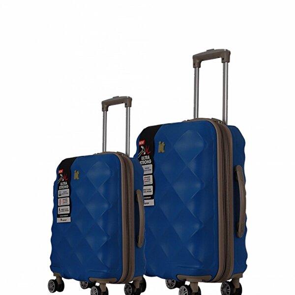 IT LUGGAGE 2126 ABS 2'li Valiz Seti Lacivert (Kabin + Orta)
