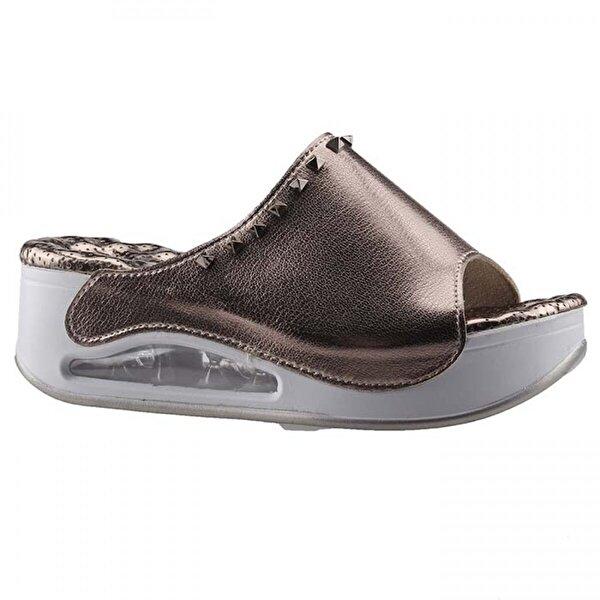 Muya 27264 Altın Günlük Air Masaj Taban Bayan Terlik Ayakkabı