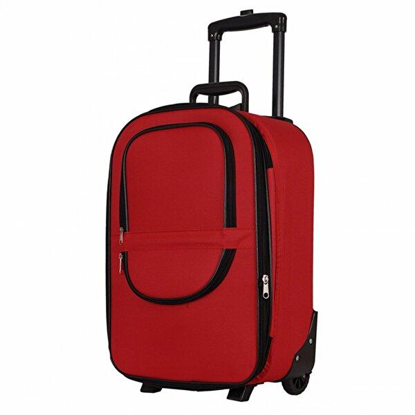 LAGUNA 00235 Kırmızı Orta Boy Kumaş Valiz