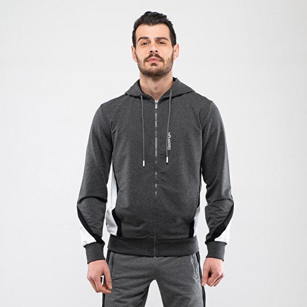 Slazenger PETROS Gri Erkek Sweatshirt