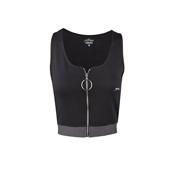 Slazenger PRO FIT Siyah Kadın Kısa Kol Tişört