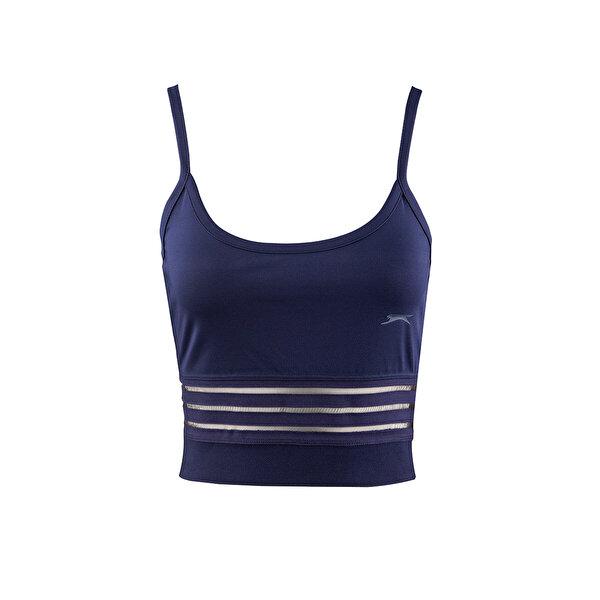 Slazenger PUSH Lacivert Kadın Kısa Kol Tişört