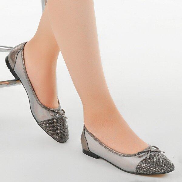 Ayakland Elf 352 Bayan Abiye Babet Ayakkabı Gümüş