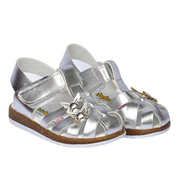 Şirin Bebe Kiko Şb 2262-71 Ortopedik Kız Çocuk Bebe Sandalet Terlik Gümüş