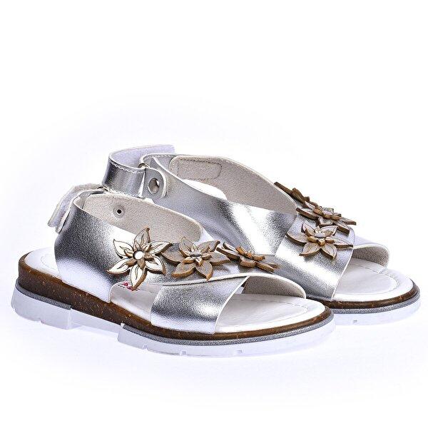 Şirin Bebe Kiko Şb 22722440-49 Ortopedik Kız Çocuk Bebe Sandalet Terlik Gümüş