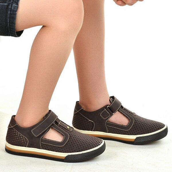Şirin Bebe Kiko Şb 2397-04 Ortopedik Erkek Çocuk Ayakkabı Sandalet Kahverengi