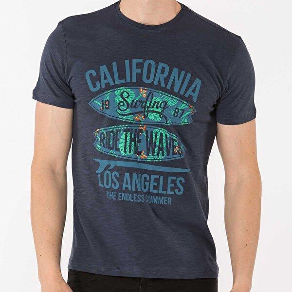 Mille TAFARI Erkek T-Shirt Lacivert