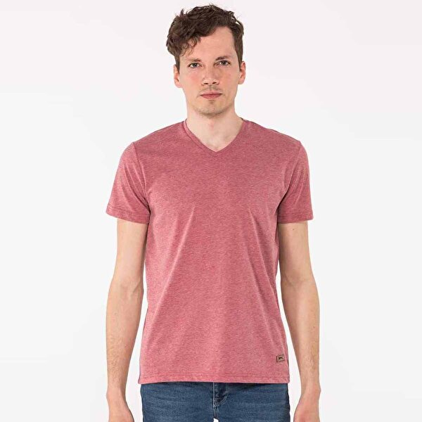 Slazenger KALEY Erkek T-Shirt Bordo