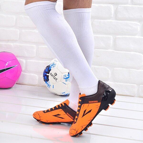Lig Meteor Erkek Krampon Çim Saha Futbol Ayakkabısı TURUNCU