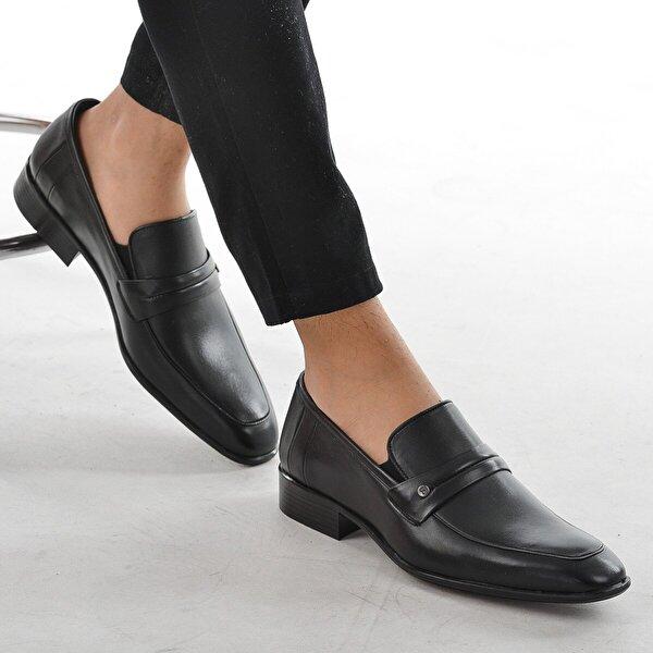 Ayakland Syn 212 Cilt Günlük Deri Erkek Klasik Ayakkabı SİYAH