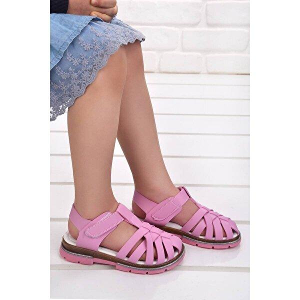 Şirin Bebe Kiko Şb 2430-39 Ortopedik Kız Çocuk Sandalet Terlik Pembe