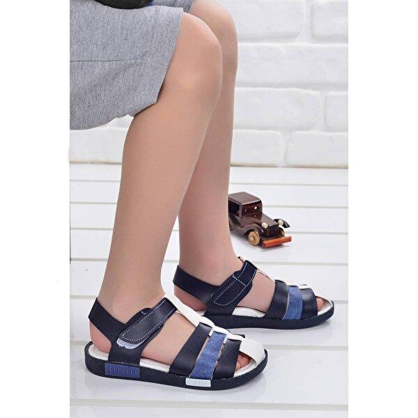 Şirin Bebe Kiko Şb 2479-87 Ortopedik Erkek Çocuk Sandalet Terlik Lacivert-Mavi