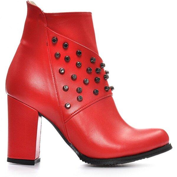 Vizon Ayakkabı Kadın  Kırmızı Bot VZN19-049K