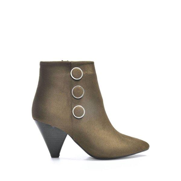 Vizon Ayakkabı Kadın  Haki-Süet Bot VZN19-133K