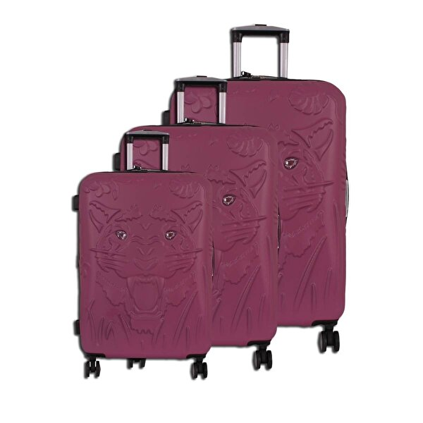 IT LUGGAGE 02251 Pembe 3'Lü Set Abs Valiz