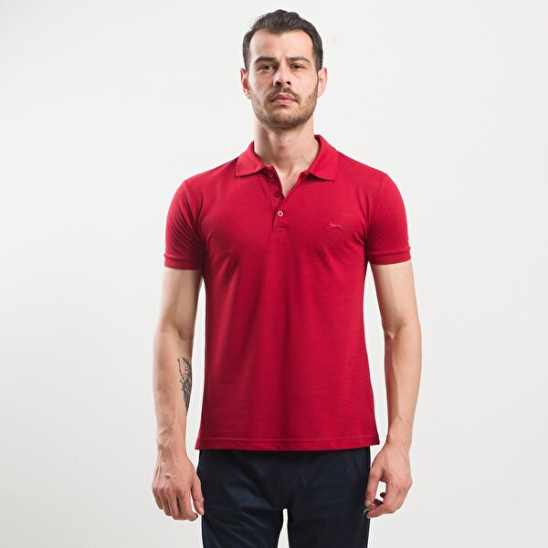 Slazenger SELF Erkek T-Shirt Bordo