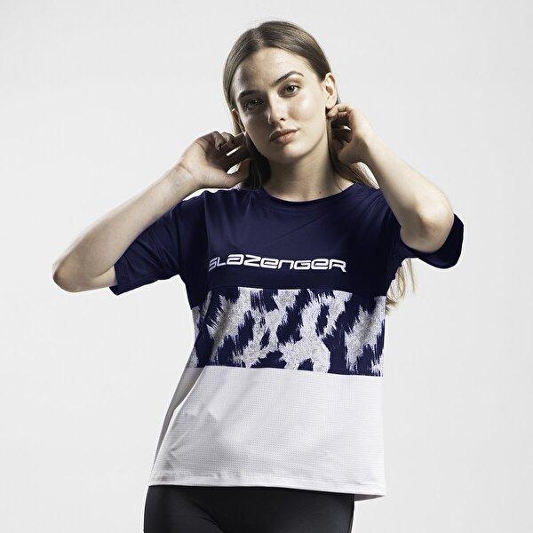 Slazenger PREVIOUS Kadın T-Shirt Lacivert
