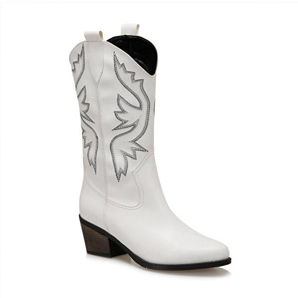 Butigo GİANNİ Beyaz Kadın Ökçeli Çizme