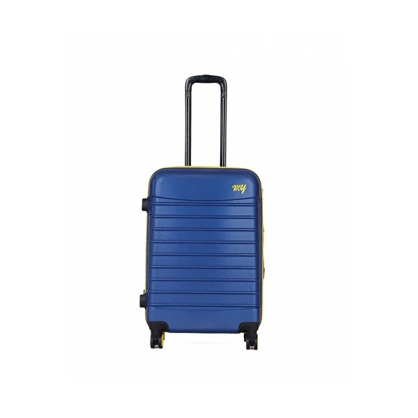 My Luggage Unisex  Renkli Fermuar Detaylı Orta Boy Valiz 1MY0101343