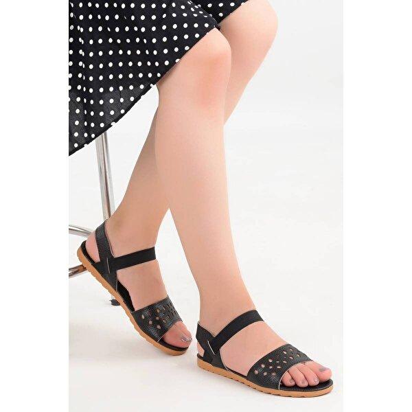AYAKLAND Bigy 057 Günlük Bayan Sandalet Ayakkabı SİYAH
