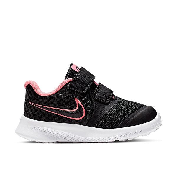 Nike STAR RUNNER 2 (TDV) Siyah Kız Çocuk Koşu Ayakkabısı