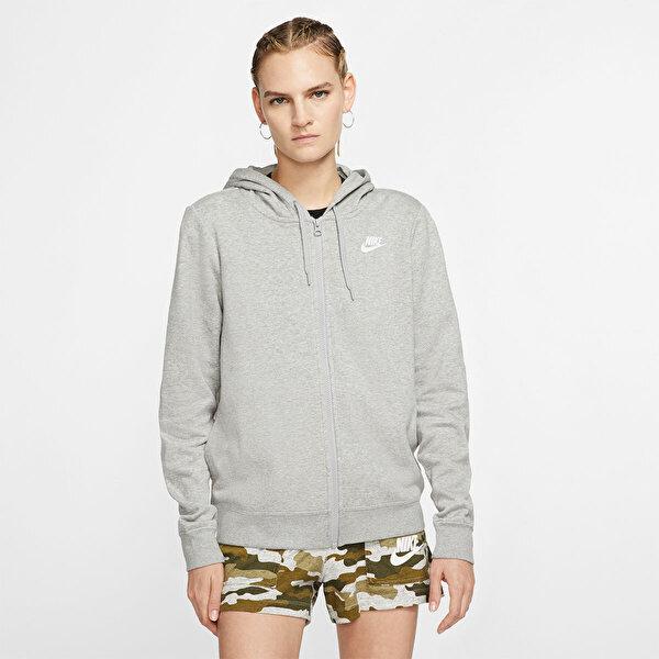 Nike W NSW CLUB FLC HOODIE FZ Gri Kadın Sweatshirt