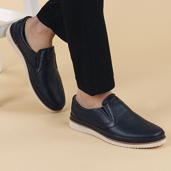 AYAKLAND Ant 541 Günlük Deri Erkek Ayakkabı LACİVERT