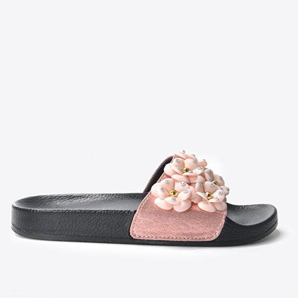 Vizon Ayakkabı Kadın  Pembe Terlik VZN20-169Y