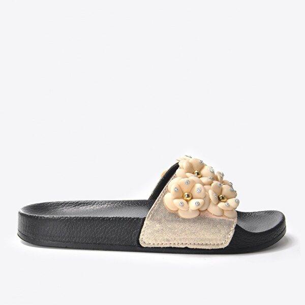 Vizon Ayakkabı Kadın  Bej Terlik VZN20-169Y