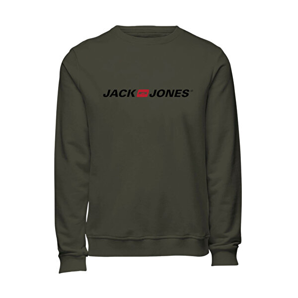 Jack & Jones JJECORP OLD LOGO SWEAT CR Antrasit Erkek Sweatshirt