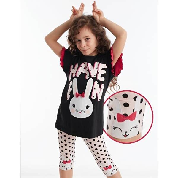 Denokids Bunny Fun Kız Tayt Takım